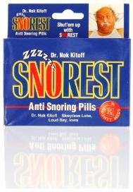 Laughrat 00069 SnoRest Anti-Snoring Novelty Candy Pills