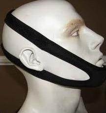 Snore Eliminator Chin Strap on the head